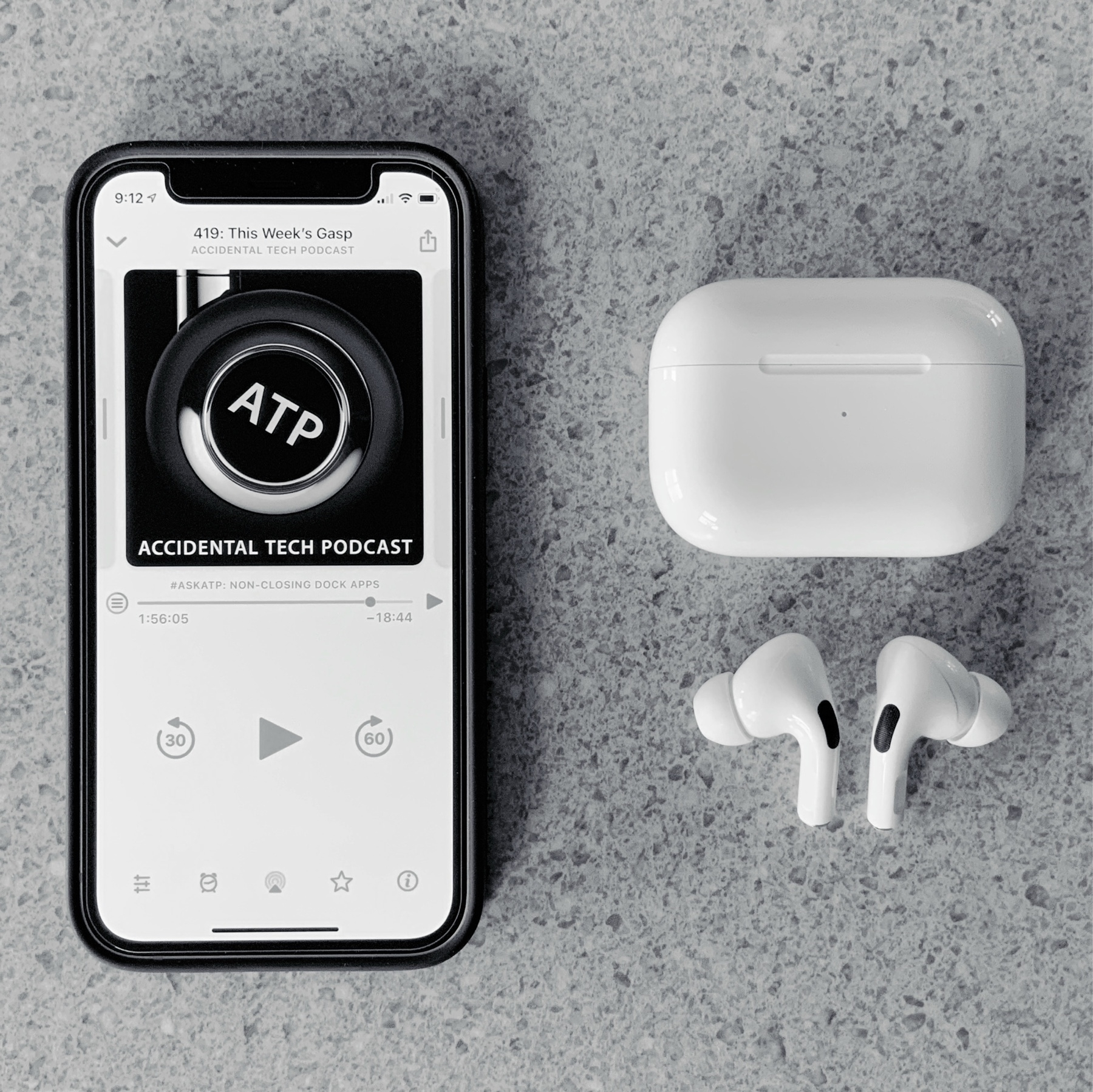 iPhone and AirPods headphones