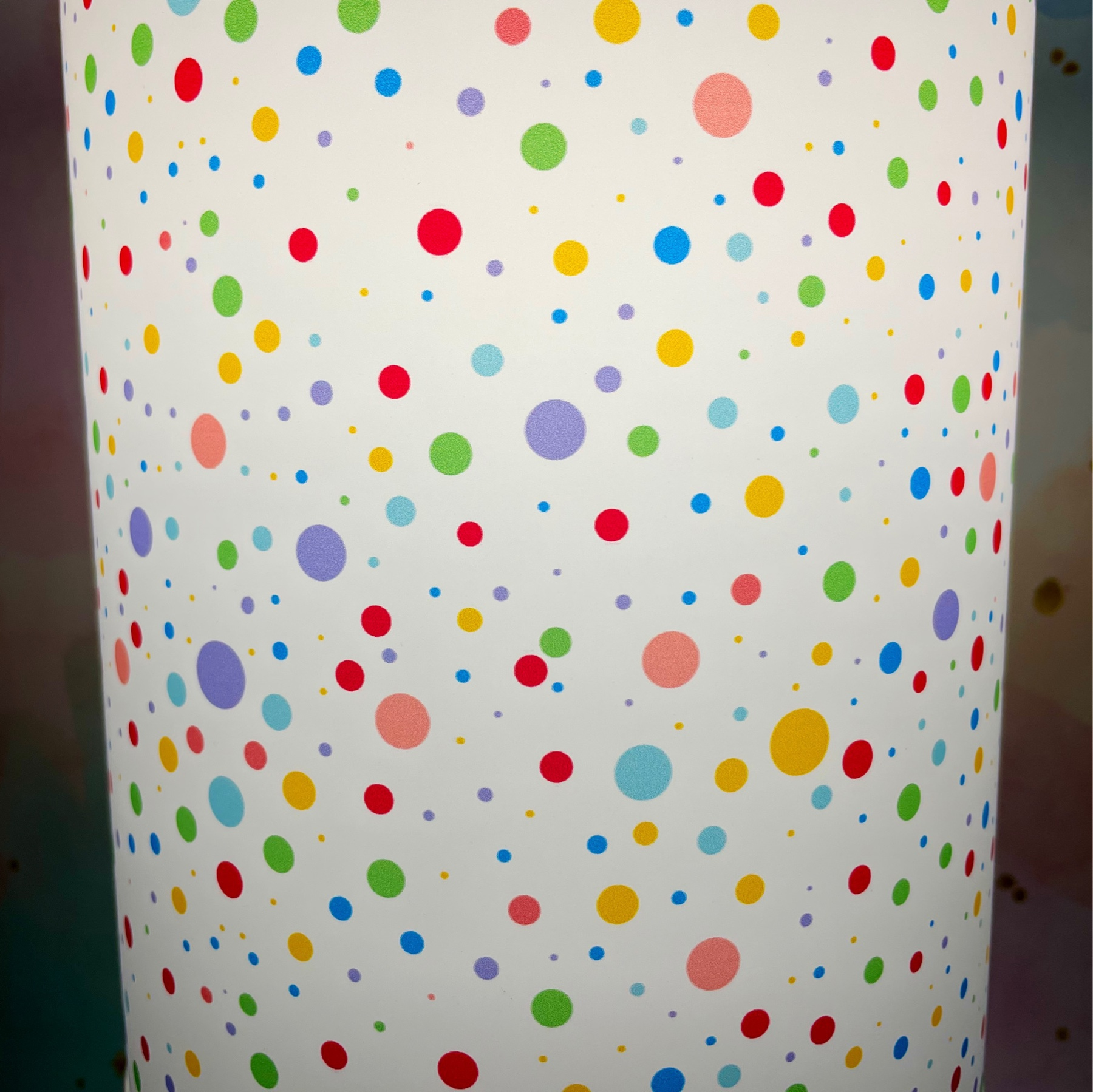 polkadot lamp shade