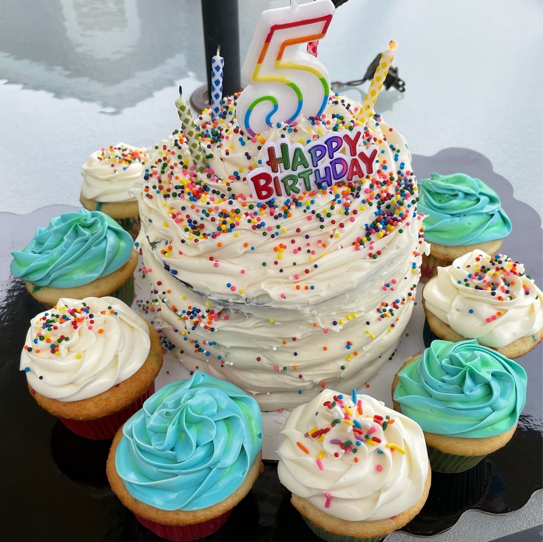 birthday called and cupcakes